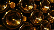 Rows of wine bottles Stock Footage