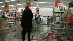 waiting in line at Walmart - stock footage