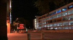 Parking Garage At Night Stock Footage