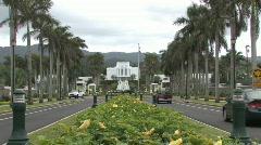 Mormon Temple Hawaii M HD Stock Footage