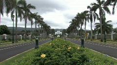 Mormon Temple Hawaii zoom in M HD Stock Footage