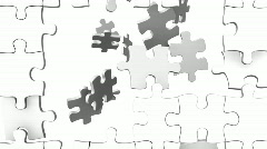 White Puzzle - stock footage