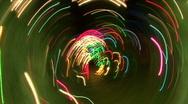 Streaks Of Christmas Lights Stock Footage
