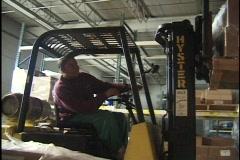 Forklift Operator Placing Skid 2 - stock footage