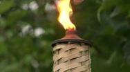 Tiki Torch 01 Stock Footage