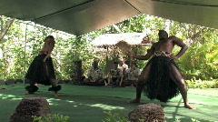 Hawaiian dancers men M HD Stock Footage