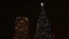 Urban Christmas Lights Stock Footage