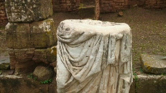 Roman statue archaeology Stock Footage