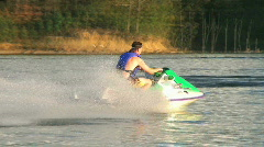 Jet Ski on Lake 02 - stock footage