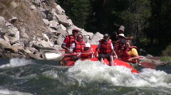 Whitewater Rafting - stock footage