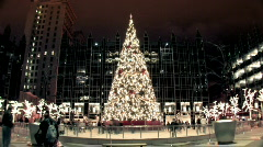 PPG Place Ice Rink 142 - Wide Stock Footage