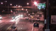 Light Traffic on W. Carson Street 149 - Night Stock Footage