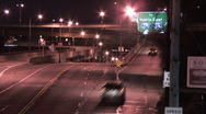 Stock Video Footage of Light Traffic on W. Carson Street 149 - Night