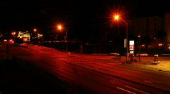 Night traffic Stock Footage