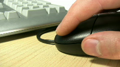 Mouse Clicking Stock Footage