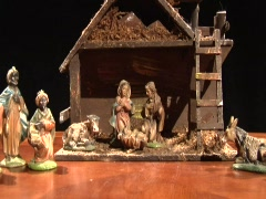 Nativity Figurines Stock Footage