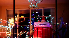 Santa in Chimney Stock Footage
