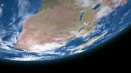 Earth Orbit 153 - Top Stock Footage