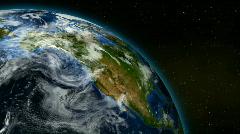 Loopable Earth Rotation HD NTSC PAL Stock Footage