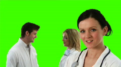 Green Screen Footage of Doctors talking Stock Footage