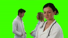 Green Screen Footage of a medical Team 6 Stock Footage