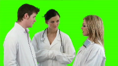 Green Screen Footage of a medical Team 7 Stock Footage
