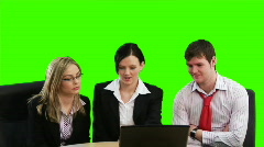 Chroma key Business footage 2 Stock Footage