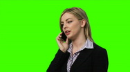 Stock Video Footage of Chromakey - woman on telephone