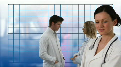 Team of Doctors working Together Stock Footage