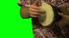 Bongo Drum Green Screen 02 Stock Footage