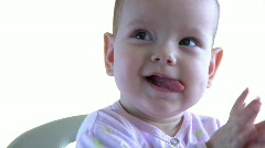 The baby model 23 Stock Footage