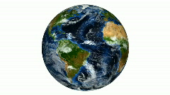 Earth Rotate on white background HD NTSC PAL Stock Footage
