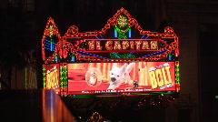 El Capitan Theatre Hollywood Stock Footage
