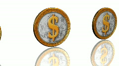 Silver golden coins Stock Footage