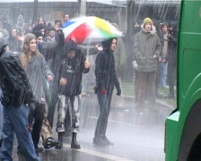 Demonstration Anti Nazi Kiel 01 - stock footage