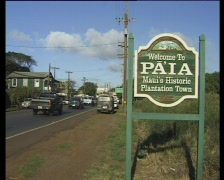 Hawaii Traffic Paia 05 Stock Footage