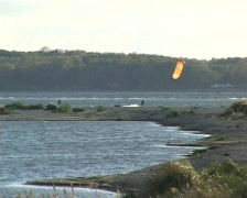 Kitesurfing Kiel Laboe 01 Stock Footage