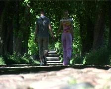Ruegen Couple walking Stock Footage