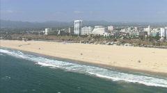 LA aerials pacificcoast hwy8 Stock Footage
