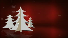 White Trees on Red Left Stock Footage