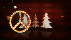 Holiday Peace Symbol In Lights Stock Footage