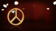 Stock Video Footage of Holiday Peace Symbol In Lights