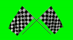 Two checkered flags Stock Footage