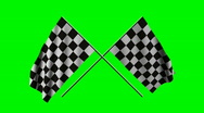 Stock Video Footage of Two checkered flags