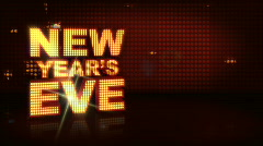 New Years Eve In Lights Red Stock Footage