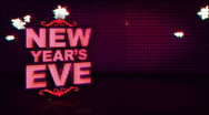 Stock Video Footage of New Years Eve Pink Sparkle
