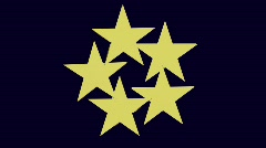 Five stars Stock Footage
