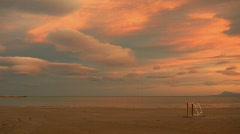 Calm scene at the beach Stock Footage