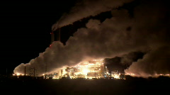 Power Plant Pollution Time-lapse Stock Footage
