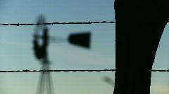 Windmill Rack Focus Stock Footage